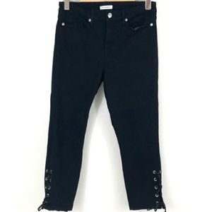 Good American ankle lace up Jean's